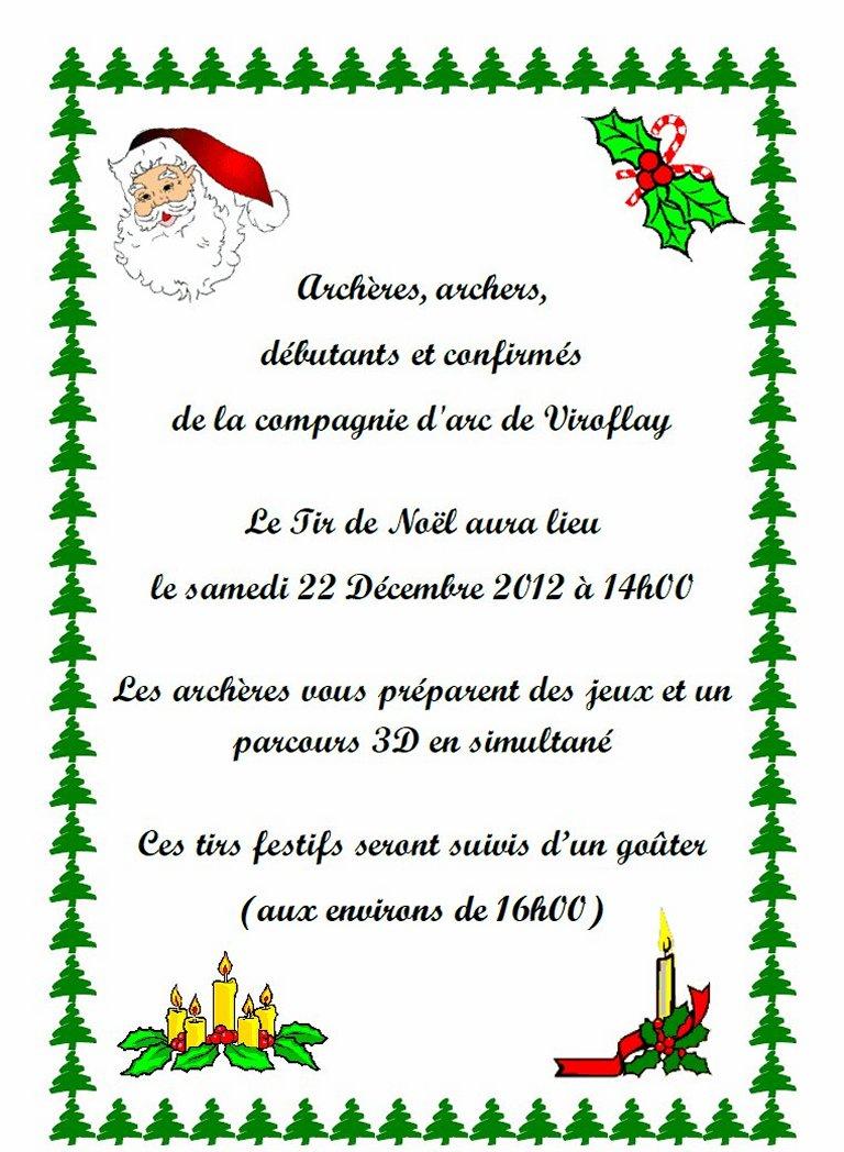 Tir de Noël 2012